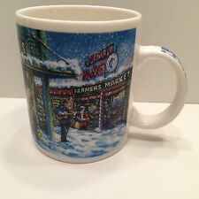 STARBUCKS CHRISTMAS WINTER SCENE PIKE PLACE PUBLIC FARMERS MARKET MUG COFFEE CUP
