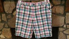 Women's Shorts Size 16.5 Plus Juniors Turquoise Pink Yellow White Glitter Thread