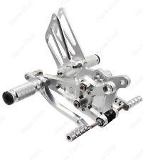 Silver Adjustable Rearsets Foot Pegs Footrests For HONDA CBR600 F4 F4I 1999-2006