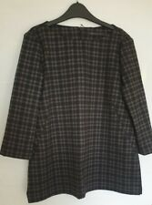 Marks and spencer Checked Top Size 14  Bnwt Rrp £29.50 Black Grey