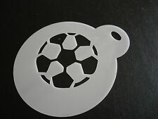 Laser cut small football design cake, cookie, craft & face painting stencil