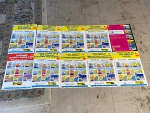 9 CHESHIRE COUNTY COUNCIL BUS TIMETABLE BOOKS & 1 MAP