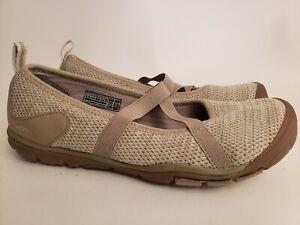 Women's KEEN Hush Knit Taupe Mary Jane Comfort Walking Shoe Size US 9.5 EUR 40