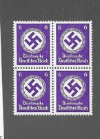Official  WWII Emblem  / MNH stamp block / 1942 PF06  / Third Reich Germany