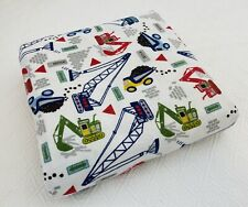 New ListingPottery Barn Kids Busy Builder Construction Truck Flannel Duvet Cover Full/Queen