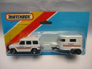 Matchbox Macau Two Pack Mercedes G Wagon & Pony Trailer- Polizei- blistercarded