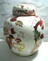 Large Mason's Mandalay Red Pattern Ginger Jar & Lid ~ 23cm
