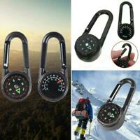 3 in 1 Compass Thermometer Outdoor Hiking Tactical v Ring Portable Key L4H2