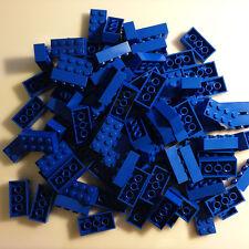 100 *NEW* LEGO 2x4 Bright Blue (Blue) Bricks (ID 3001) BULK Blocks