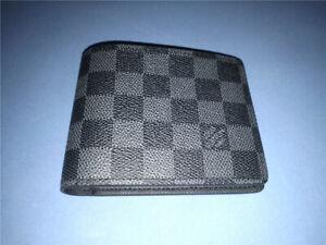Mens Louis Vuitton Auth Multiple Damier Graphite Wallet w/Box