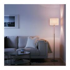 BRAND NEW IKEA ALANG STYLISH NICKEL-PLATED HEIGHT ADJUSTABLE FLOOR LAMP WHITE
