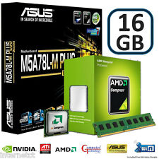 CPU AMD 145 16GB DDR3 ASUS M5A78L-M PLUS SCHEDA MADRE USB Gaming Bundle di aggiornamento