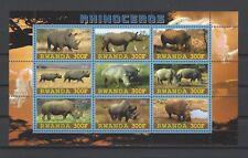 Rwanda 2010  Wild Animals-Rhinoceros  MNH Souvenir Sheet