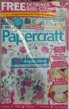 Papercraft Inspirations UK Jan 2017 Designer Bird Stamp Papers FREE SHIPPING sb