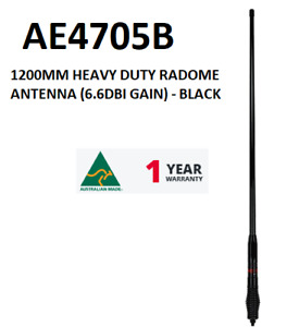 GME ANTENNA 120CM 6.6DBI  UHF Antenna - BLACK  AE4705B  1 YR WARRANTY