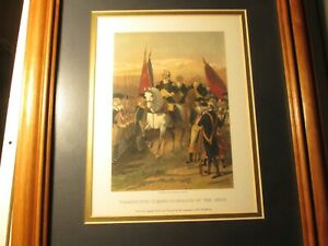 Vintage General George Washington Framed Print Taking Command Of The Army