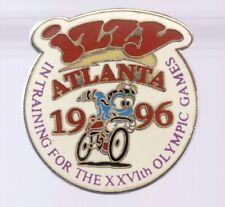 1996 Atlanta Olympic Pin Izzy Cycling In Training