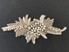Hand Beaded Swarovski Crystal applique Embellishment / wedding jewellery