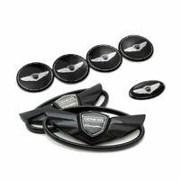 7 set Genesis Coupe Noir Insigne Capot Coffre Volant Enjoliveur roue autocollant