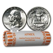 90% Silver Washington Quarters 40-Coin Roll BU - SKU #22017