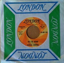 BARBARA CUMMINGS - SHE'S THE WOMAN b/w THERE'S SOMETHING... - LONDON 45 - PROMO
