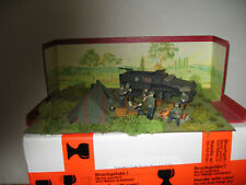 diorama campement allemands,petit soldats,pas elastolin,pas starlux,ni quiralu