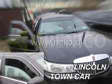 LINCOLN TOWN-CAR 5-portes 1998-2003 Deflecteurs de vent 2-pièces HEKO Bulles