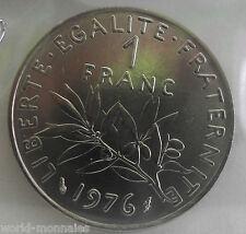 1 franc semeuse 1976 : FDC : pièce de monnaie française