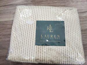 Ralph Lauren Twin Fitted Sheet Cold Spring Pinstripe Heartland Cream Black
