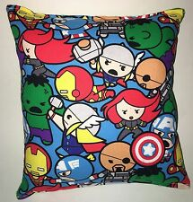 Kawaii Avengers Pillow Marvel Hulk , Iron man , Captain America, Thor ,Nick Fury