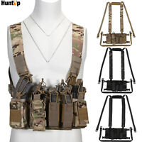 Tactical Chest Rig Molle Harness Magazine Holster Bag Vest for Airsoft Paintball