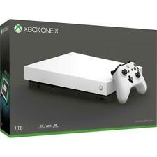 New listing Xbox One X 1tb Robot White + controller with Sunbeam Aa batteries + Halo 5 Game
