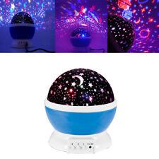 Star Colorful Dream Rotary Projection Lamp Romantic Babysbreath Lantern
