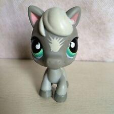 Littlest Pet Shop~#524~Gray White Horse Pony Gray White~Aqua Tear Drop Eyes