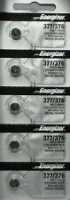 5 X ENERGIZER 377 376 WATCH BATTERY SR626SW SR626W Silver Oxide Battery