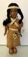 Vintage Indian Native American Doll with Papoose back, Nm, from the 50's