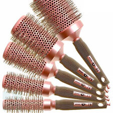 Head Jog Round Barrel Ceramic Ionic Radial Hair Brushes Pink VARIOUS SIZES