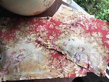 2 Antico C 1800s Francese Toile de Jouy pannelli di tessuto per collezionisti alcuni danni