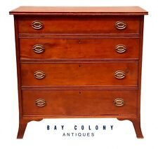 18Th C Antique Pennsylvania Hepplewhite Cherry Dresser / Chest