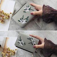 Simple Mini Bag Short Flower Photo Women Purse Wallet PU Clutch Pocket