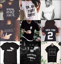 Fashion Women Men Casual T-Shirts Cotton Funny T-shirt Tee Tops Birthday Gift