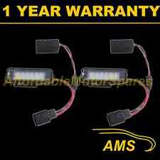 2X FOR VW PHAETON POLO EOS PASSAT CC 2010- 18 WHITE LED NUMBER PLATE LAMPS