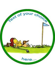 Golf golfing sport joke tee Edible Cake Topper Wafer or Icing Decoration