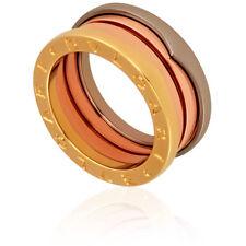 bvlgari bzero1 18k pink white and yellow gold 3 band ring