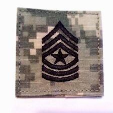 US Army Rank E9 Sergeant Major ACU Regulation Patch W/Fastener