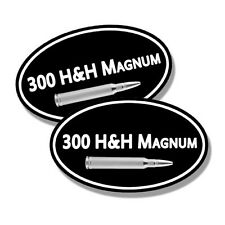 "300 H&H Magnum Ammo Can ** 2 PACK ** 5""x3"" Oval Rifle Gun Vinyl Sticker"