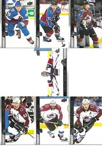 20-21 2020-21 Upper Deck Colorado Avalanche Series 1 Team Set-7 Cards-MacKinnon