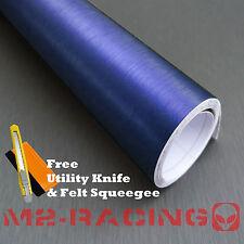 "*60""x1200"" BLUE BRUSHED ALUMINUM Vinyl Wrap Sticker Decal Sheet Film Pro Grade"