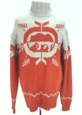Ecko Unltd Mens Mock Jumper Ski Sweater Y34067 Orange Gray Medium Rare New