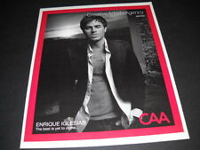 Enrique Iglesias The Best Is Yet To Come. 2007 Promo Display Ad mint condition